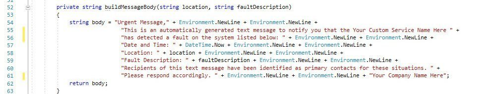 Send text messages in C#